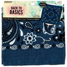 Back to Basics Paisley Bandana, Navy Blue