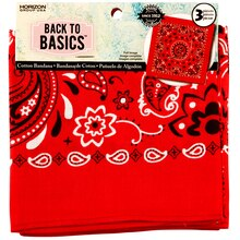Back to Basics, Bandana, Red Paisley, 3 Pack