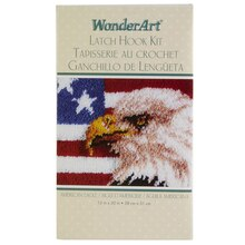 Wonderart Latch Hook Kit, American Eagle