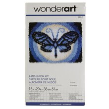 Wonderart Latch Hook Kit, Butterfly Moon
