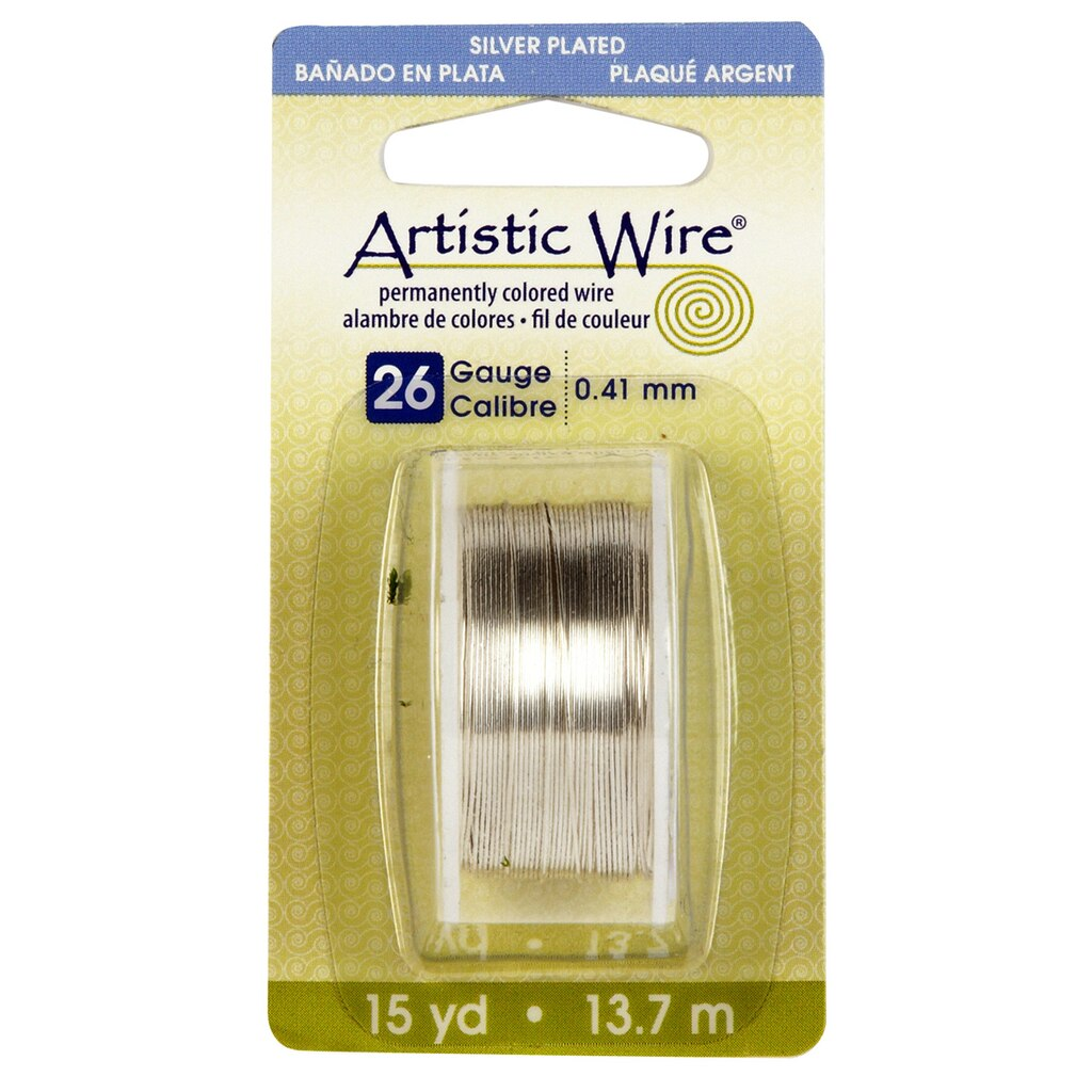 Artistic wire silver 26 gauge greentooth Images