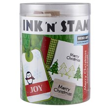 Hero Arts Merry Christmas Ink n' Stamp Set