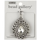 Bead Gallery Oval Drop Pendant, Crystal Cubic Zirconia