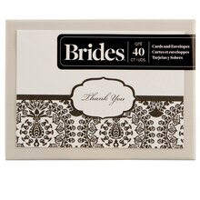 BRIDES Black and White Thank You Cards