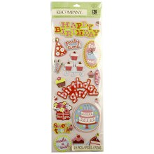 K&Company Adhesive Chipboard, Sweetie Birthday