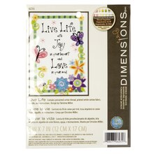 Dimensions Crewel Embroidery Kit, Live Life