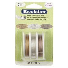 Beadalon 7 Strand Bead Stringing Wire, 3 Pack, Assorted Colors