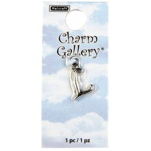 Charm Gallery Silver Plated Letter L Charm
