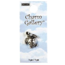 Charm Gallery Silver Plated Sea Turtle Charm