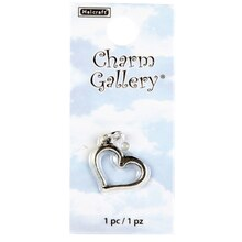 Charm Gallery Silver Plated Charm, Heart