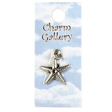 Charm Gallery Silver Plated Charm, Starfish