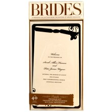 BRIDES Black & Ivory Layered Program Paper