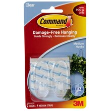 3M® Command™ Medium Hooks, Clear