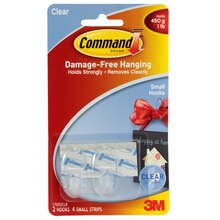 3M Command Small Hooks, Clear