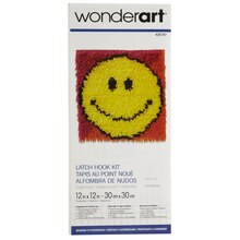 Wonderart Latch Hook Kit, Smiley Face