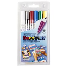 DecoColor Glossy Oil Base Paint Marker, Extra Fine