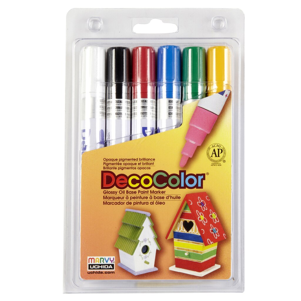 DecoColor™ Glossy Oil Base Paint Marker, Broad