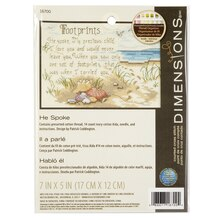Dimensions Counted Cross Stitch Kit, He Spoke