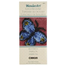 Wonderart Latch Hook Kit, Small Butterfly