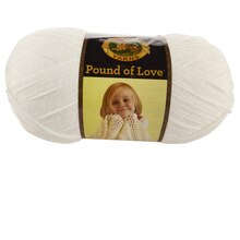 Lion Brand Pound of Love Yarn, White
