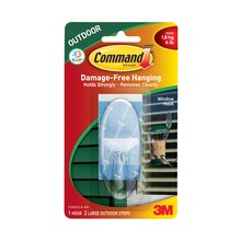 3M Command Outdoor Window Hook with Clear Strips
