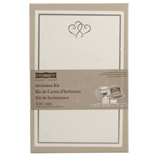 Celebrate It Occasions Invitation Kit, Platinum Hearts