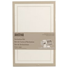Celebrate It Occasions Invitation Kit, Pearl White Border