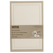 celebrate it occasions invitation kit ivory border - Paper For Wedding Invitations