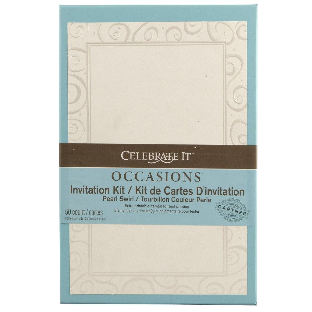 Celebrate It™ Occasions™ Invitation Kit, Pearl Swirl Heart