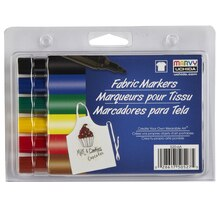 Marvy Uchida Bold Point Fabric Markers, Primary