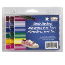 Marvy Uchida Bold Point Fabric Markers, Fluorescent