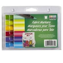Marvy Uchida Brush Point Fabric Markers, Brilliant