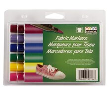 Marvy Uchida Brush Point Fabric Markers, Bright