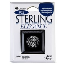 Cousin Sterling Elegance Open Jump Ring, Sterling Silver