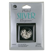 Cousin Plated Silver Elegance Split Ring, Silver Plated