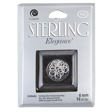 Cousin Sterling Elegance Sterling Silver Closed Jump Ring
