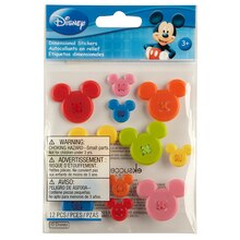 Disney Mickey Adhesive Buttons