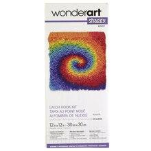 Wonderart Shaggy Latch Hook Kit, Tie-Dye