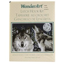 Wonderart Latch Hook Kit, Midnight Wolves