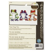 Dimensions Counted Cross Stitch Kit, Tree Frog Trio