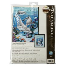 Dimensions Counted Cross Stitch Kit, Dolphins Domain