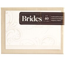 BRIDES Pearl White Thank You Cards