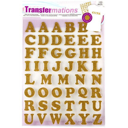 transfermationstm iron on letters glitter With transfermations iron on glitter letters