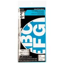 "CTHRU BetterLetter Plastic Stencils, Helvetica Bold 2"""