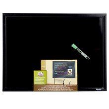 The Board Dudes Black Framed, Black Surface Magnetic Dry Erase Board