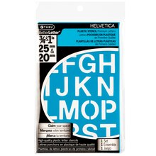 CTHRU BetterLetter Plastic Stencils, Helvetica Assortment