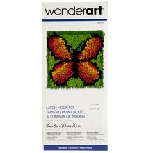 Wonderart Latch Hook Kit, Butterfly