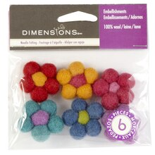 Dimensions Needle Felting, Mini Ball Flowers
