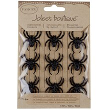 Jolee's Boutique Parcel Glitter Spiders Stickers