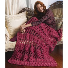Lion Brand® Wool-Ease® Thick & Quick® Lacy Eyelets Afghan (Crochet)
